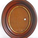 """Victorian Oval Frame Antique Heavy Wide Old Patina Large 12""""x15"""" Gilded Liner"""