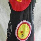 Psychedelic POP ART Colorful Tessuto Bullseye Print BOLD Shift Tank Dress S NOS