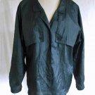 Diane Von Furstenberg Blouse Vintage 80s Crinkle Military Safari Shirt Flowy 8
