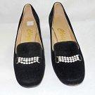 Vintage Pumps Christina Copenhagen 6.5M Black Velvet Sparkling Clip Cuban Heel