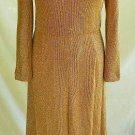 Maxi Chain Mail Dress Carlye Gold Mesh Turtleneck Vintage 60s Bombshell Wiggle
