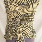 Halter Nos Peter Nygard Zebra Animal Print Bandage Sexy Wrap Shirt Blouse 4