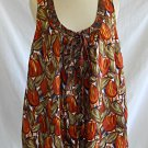 Tracy Reese Plenty NWT New Top Burnished Orange Tulips Silk Swing Print Tunic S