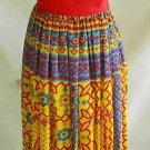 Dress Maxi Peasant Corset Vintage 60s NOS Denise California Provencial Print
