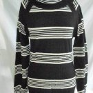 Vintage NOS 60s Yves Saint Laurent Stripe Wool Mini Dress Tunic Sweater YSL L