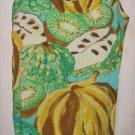 Jams Vintage Hawaiian Fruit Print Crinkle Deadstock Shift Surfer Dress S NOS
