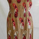 Fit and Flare Dress NOS Vintage 50s Mid Century Modern Wiggle Sheath Dress