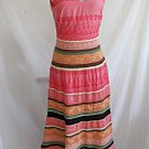 Tocca Dress Maxi Lace Crochet Deadstock Nos Embroidered Trapeze Peasant Boho 4