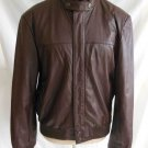 Vintage 70s NOS Cooper Leather Jacket Bomber Motorcycle Aviator 38 Biker Flight