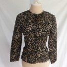 Oscar de la Renta Trophy Jacket Vintage Quilted Animal Print 90s Deadstock 6