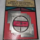 Mid Century Vintage Door Knob Plate New Old Stock NIP Escutcheon Trim Rosette