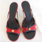 Chanel Sandals Mules  4 Leaf Clover Good Luck Charm Skinny Strap Bow Shoes 36