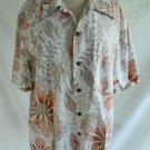 60s Reverse Backward Print Vintage Evelyn Margolis Hawaiian Shirt Coconut Button