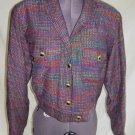 Blazer Bolero Jacket Vintage 70s NOS Doncaster Silk Tweed BIKER Military 8
