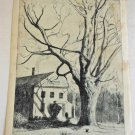 Marco ZIM Russia Artist 1930s WPA Era Etching Boston New England House Old Maple