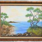 Painting Rocky California Coast Plein Air Vintage Western Original  Marine Oil