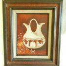 Vintage Texas Mid Century Modern 50s Walojo Painting Western Indian Pottery Pot