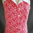 Bodysuit Vintage  60s NOS Deadstock Sunny South Fashions Dallas Calico Patchwork