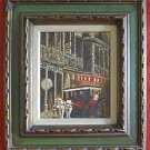 Leo Koch New Orleans Original Vintage Oil Painting Carriage French Quarter
