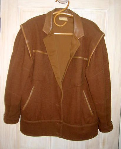 Complice Versace Slouchy Biker Leather Wool Jacket Vintage 70s  Motorcycle  10