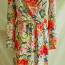 Mary McFadden Vintage 70s NOS Deadstock Tropical Print Draped Sarong Dress 14