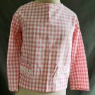 Jantzen Gingham Pink Buffalo Check Baby Doll Lace 12 NOS DEADSTOCK Vintage 50s