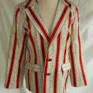 Trophy Martieri Jacket Blazer Vintage 70s NOS Mixed Wallpaper Print Tiny Floral