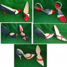 Joseph LaRose Vintage 60s  NOS Red White Blue Patriotic 5 Pairs Pumps Pointy