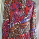 Vintage NOS Jacket Blazer 70s Mixed Print Leopard Clear Sequin Freeman Tunic 6