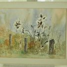 Painting New Jersey Marine Dunes Flowers Watercolor Signed Copsey Sparta Vintage