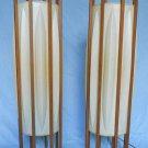 Pair Vintage Lanterns Lamps Interior Light Set Floor Vintage 50s Modern Mid Cent