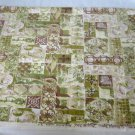 Vintage 60s Mid Modern Yardage Waverly Sorrento Tiles Fabric  NOS Modernist