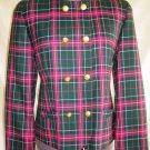 Pendleton Blazer Swing Blazer Vintage 80s NOS Tartan Military Wool Jacket 6P