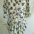 Patterson J. Kincaid Nos Dress Ruched Gathered Sexy Tulip Dropped Waist Print XS