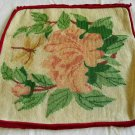 Vintage Antique Needlepoint Chair Pillow Cover Flower Rose Butterfly Floral