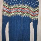 Heavy Knit Western Cardigan DEADSTOCK Slouchy Claiborne XL VINTAGE 80s Washable