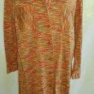 Missoni Maxi Sweater Cardigan Dress Coat Orange Tangerine Stripe Knit Nos Intimo