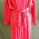 Christian Dior Peignoir Wrap Red Siren Kimono Robe Vintage 80s NOS Maxi Fluid