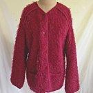 Vintage Alpaca Fuzzy Maban Raspberry Mohair Short Coat Long Jacket Deadstock