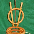 Vintage Antique Lamp Rattan 1940s V as in Victory WW ll Planter Tiki Hawaiian