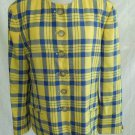 Plaid Jacket Trophy Blazer NOS Wool Vintage 70s Mondi Grunge Tartan Minimalist L