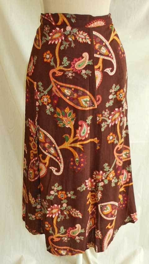 Diane Von Furstenberg DVF Maxi Skirt Nos Exploded Paisley Print A Line  1X PLUS