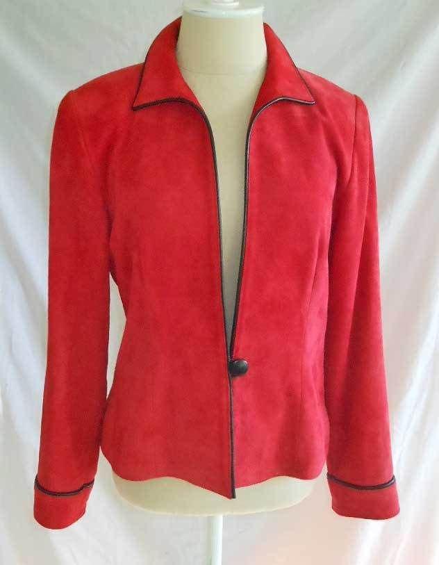 Rittmaster Carmel California Couture Suede Jacket Vintage Michals Blazer NOS S