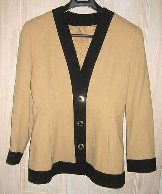 Trophy Jacket Progressive Image Military Blazer Wool NOS Deadstock Vintage 80s