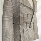 James Galanos Deadstock Vintage 60s NOS Trophy Jacket Blazer Herringbone Fitted