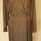 Dress DVF Diane Von Furstenberg Wrap Vintage NOS Coat Slouch Oversize Deadstock