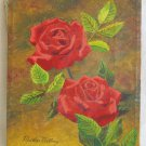 Vintage Painting Original Hollywood Regency Huge 2 Red Roses Martha Martinez