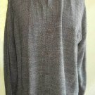 Deadstock Eileen Fisher Tunic Button Up Linen Gray Tweed Shirt Jacket NOS M