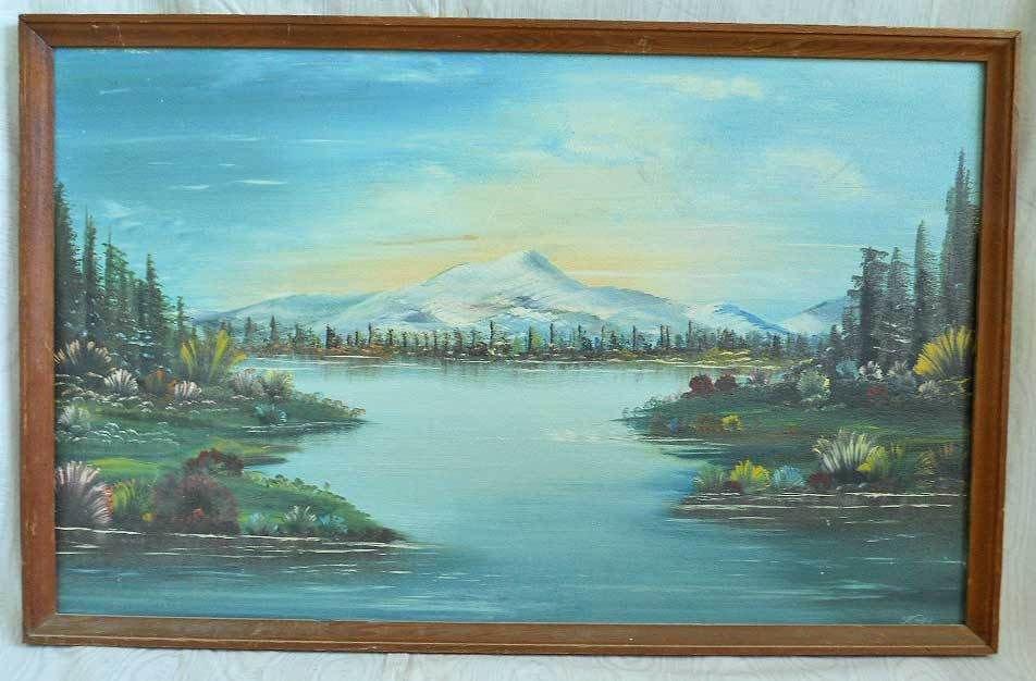 Vintage Mid Century Original Framed Oil Painting Plein Air Western Colorado