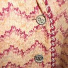 Vintage 60s Leamond Dean Pink Boucle Tweed Jacket Skirt Suit CC Logo Buttons